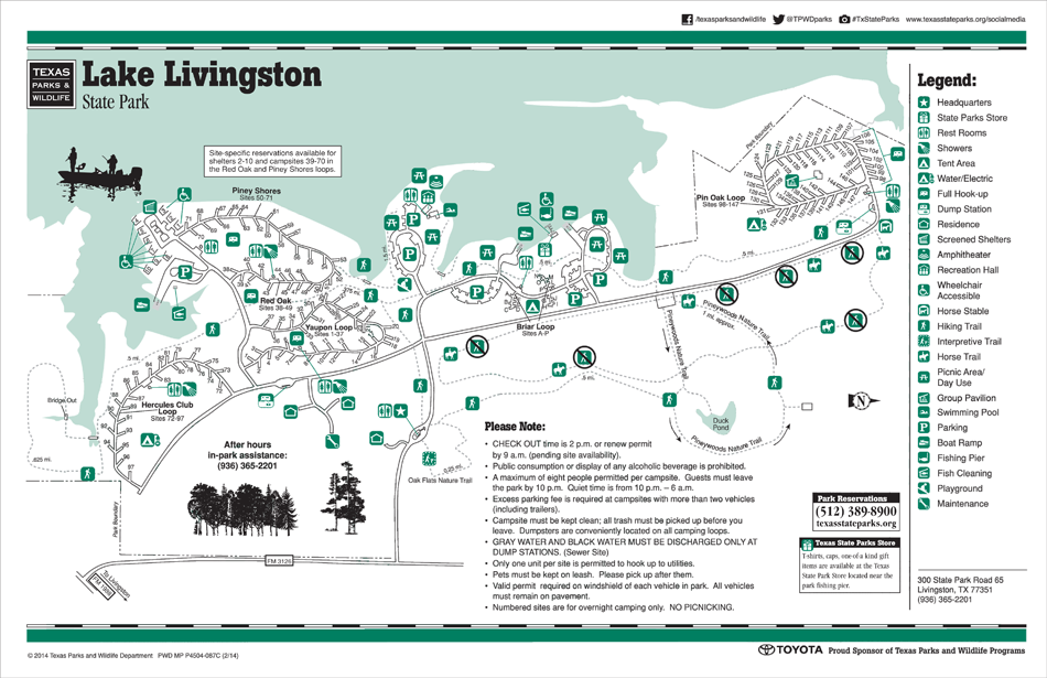 Livingston State Park Map